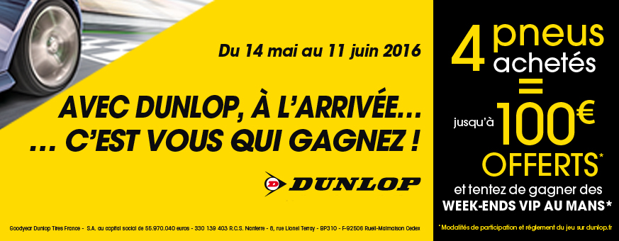 Offre dunlop for Garage automobile saint brieuc